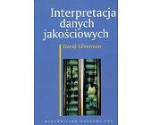 Szczegóły książki INTERPRETACJA DANYCH JAKOŚCIOWYCH