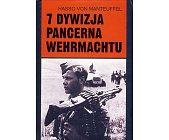 Szczegóły książki 7 DYWIZJA PANCERNA WEHRMACHTU