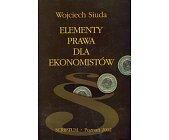 Szczegóły książki ELEMENTY PRAWA DLA EKONOMISTÓW