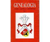 Szczegóły książki GENEALOGIA - TOM 1