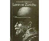 Szczegóły książki LENIN W ZURICHU