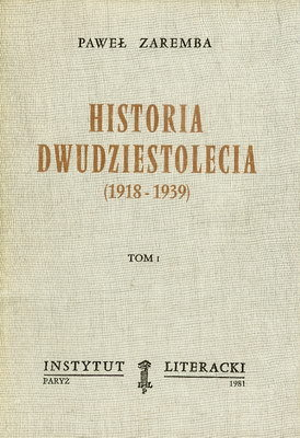 HISTORIA DWUDZIESTOLECIA (1918-1939) - 2 TOMY