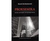 Szczegóły książki PROKSEMIKA