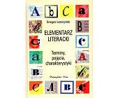 Szczegóły książki ELEMENTARZ LITERACKI