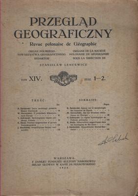 PRZEGLĄD GEOGRAFICZNY TOM XIV, ZESZYT 1-2