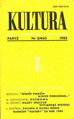 KULTURA 3/450 1985 ROK