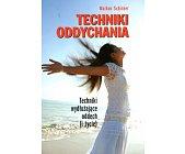 Szczegóły książki TECHNIKI ODDYCHANIA