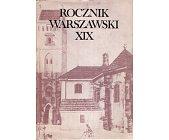 Szczegóły książki ROCZNIK WARSZAWSKI XIX