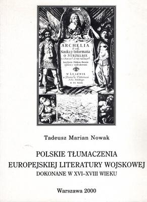 POLSKIE TŁUMACZENIA EUROPEJSKIEJ LITERATURY WOJSKOWEJ DOKONANE...