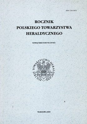 ROCZNIK POLSKIEGO TOWARZYSTWA HERALDYCZNEGO - TOM VII