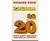 Szczegóły książki ZASADA 80/20