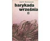 Szczegóły książki BARYKADA WRZEŚNIA