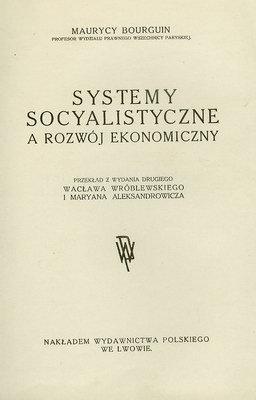 SYSTEMY SOCYALISTYCZNE A ROZWÓJ EKONOMICZNY
