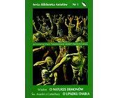 Szczegóły książki O NATURZE DEMONÓW. O UPADKU DIABŁA