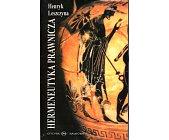 Szczegóły książki HERMENEUTYKA PRAWNICZA