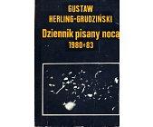 Szczegóły książki DZIENNIK PISANY NOCĄ 1980-1983