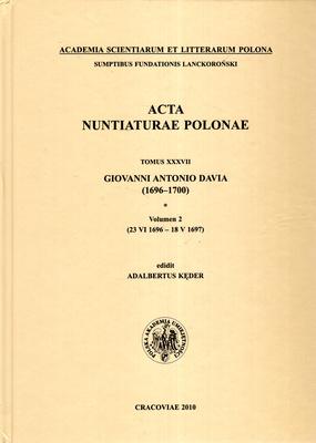 ACTA NUNTIATURAE POLONAE