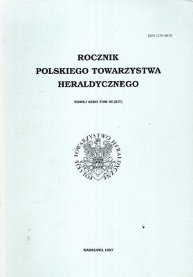 ROCZNIK POLSKIEGO TOWARZYSTWA HERALDYCZNEGO - TOM III