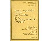Szczegóły książki WYBRANE ZAGADNIENIA Z HISTORII FILOZOFII POLSKIEJ ...