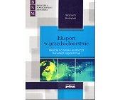 Szczegóły książki EKSPORT W PRZEDSIĘBIORSTWIE
