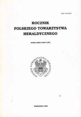ROCZNIK POLSKIEGO TOWARZYSTWA HERALDYCZNEGO - TOM IV