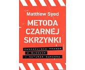 Szczegóły książki METODA CZARNEJ SKRZYNKI