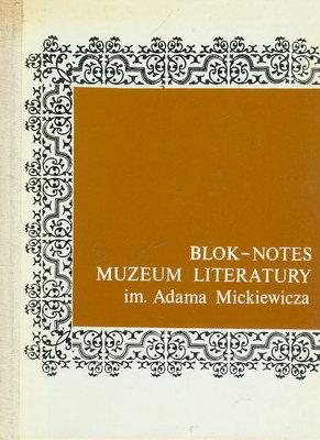 BLOK - NOTES MUZEUM LITERATURY IM. ADAMA MICKIEWICZA