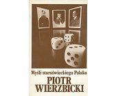 Szczegóły książki MYŚLI STAROŚWIECKIEGO POLAKA