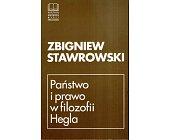 Szczegóły książki PAŃSTWO I PRAWO W FILOZOFII HEGLA