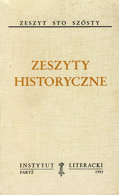 ZESZYTY HISTORYCZNE (106)