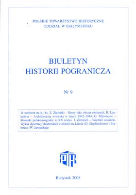 BIULETYN HISTORII POGRANICZA - TOM 9