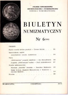 BIULETYN NUMIZMATYCZNY NR 6 (104)
