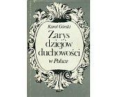 Szczegóły książki ZARYS DZIEJÓW DUCHOWOŚCI W POLSCE