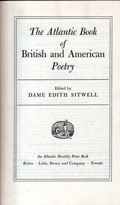 THE ATLANTIC BOOK OF BRITISH AND AMERICAN POETRY