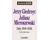 Szczegóły książki LISTY 1949 - 1956 - 2 TOMY