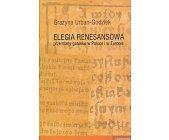 Szczegóły książki ELEGIA RENESANSOWA