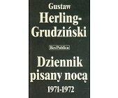 Szczegóły książki DZIENNIK PISANY NOCĄ 1971-1972