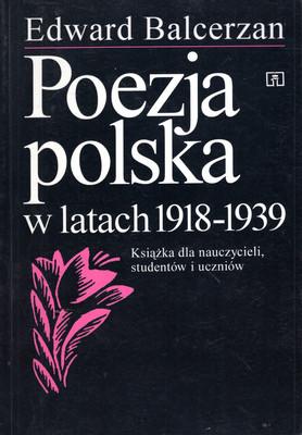 POEZJA POLSKA W LATACH 1918 - 1939