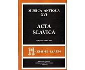 Szczegóły książki MUSICA ANTIQUA - TOM XVI - ACTA SLAVICA