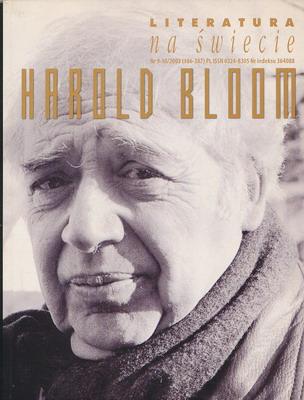 LITERATURA NA ŚWIECIE 9-10/2003 (386-387) - HAROLD BLOOM